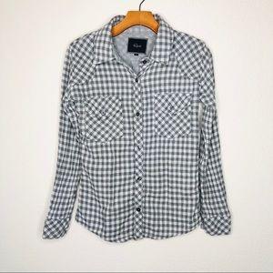 Rails Checkered Plaid Soft Flannel Button Up A4